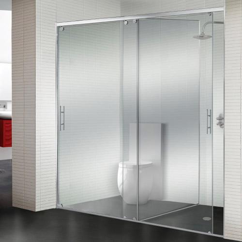 Mamparas de ducha corredera cristal athenea aluminios - Mamparas de cristal para banos ...