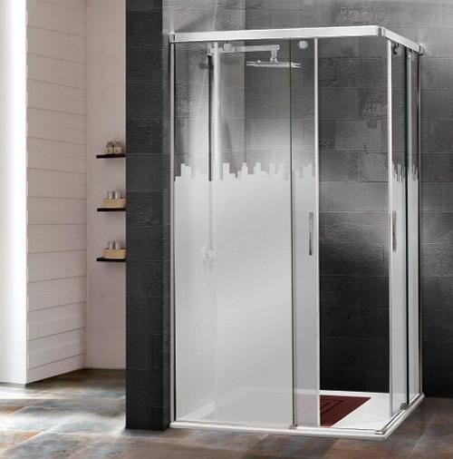 mamparas de ducha corredera cristal croacia aluminios