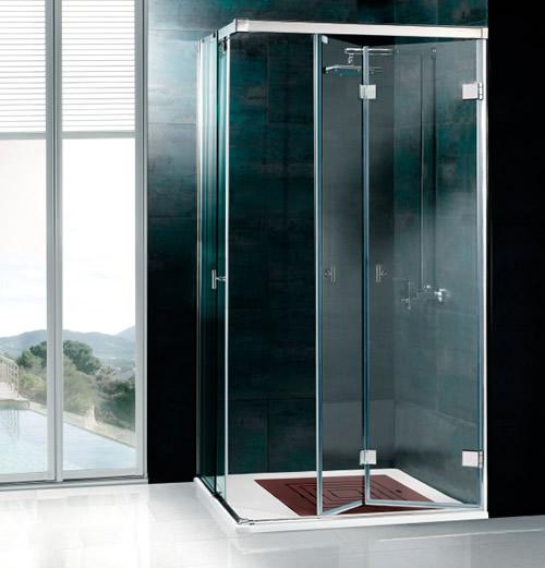 Mamparas de ducha plegables aluminios leganes fabrica for Mamparas ducha a medida