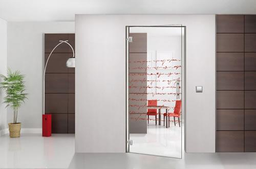 puertas de paso de cristal abatibles bisagra aluminios
