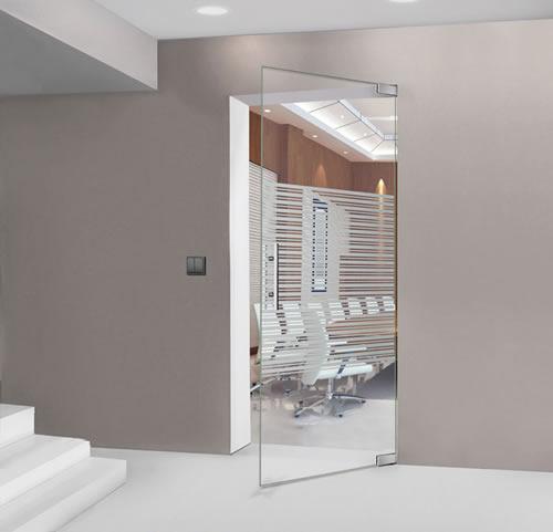 Puertas de paso de cristal abatibles bisagra hidraulica - Puerta cristal abatible ...