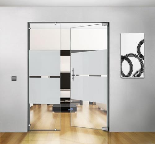 Puertas de paso de cristal abatibles bisagra hidraulica - Puertas de cocina de cristal ...