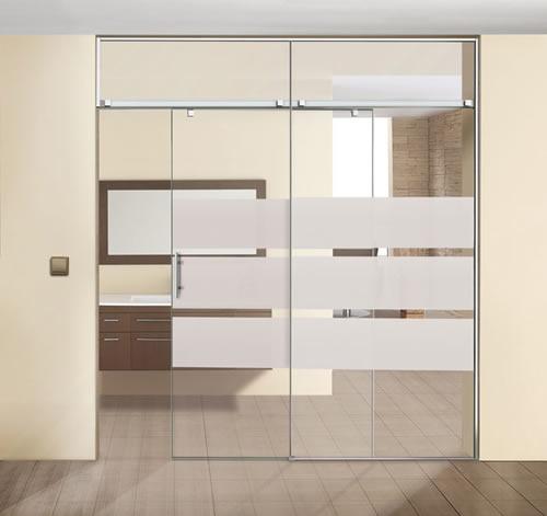 puertas de paso de cristal correderas aluminios leganes