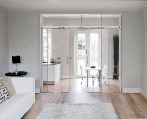 Puertas de paso de cristal correderas aluminios leganes for Puertas correderas de cristal