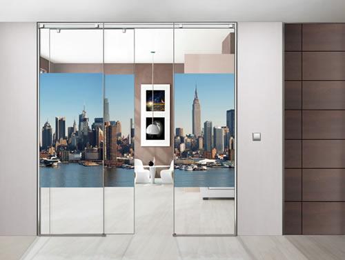 Puertas de paso de cristal correderas aluminios leganes for Cristales para puertas de paso
